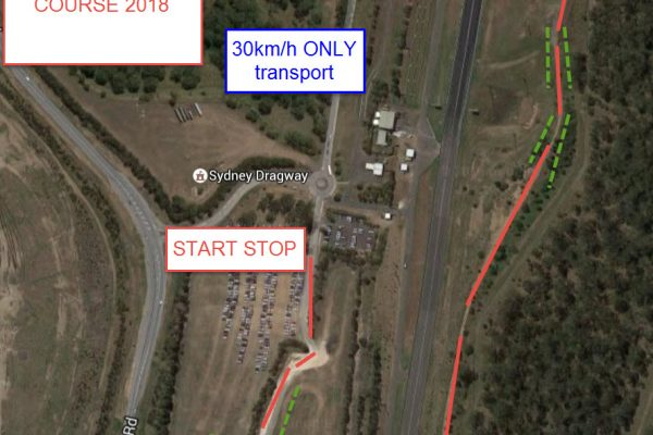 sydney dragway gravel rallysprint COURSE 2018